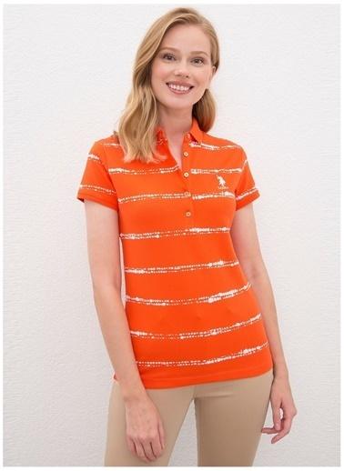 U.S. Polo Assn. U.S. Polo Assn. Kadın Polo Yaka KırmızıT-Shirt Kırmızı